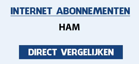 internet vergelijken ham