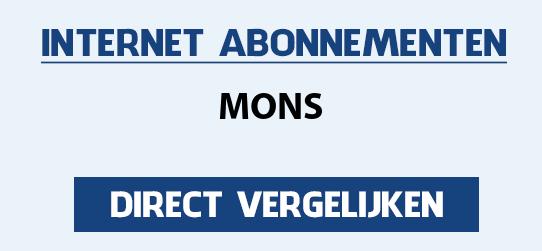 internet vergelijken mons