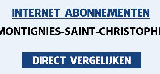 internet vergelijken montignies-saint-christophe