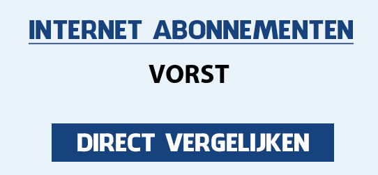 internet vergelijken vorst